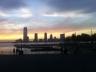 Sonnenuntergang am Hudson River