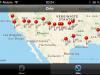 Bild vom iphone über unseren Reiseverlauf