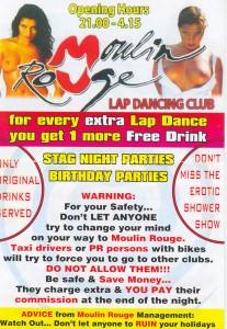 Flyer eines Strip-Lokals in Ayia Napa - Lasst euch ja nicht überreden wo anders hin zu gehen! ;-)
